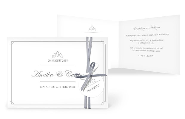 Hochzeitseinladung Noblesse