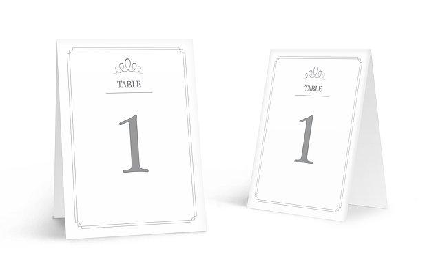 Numéro de table mariage Noblesse