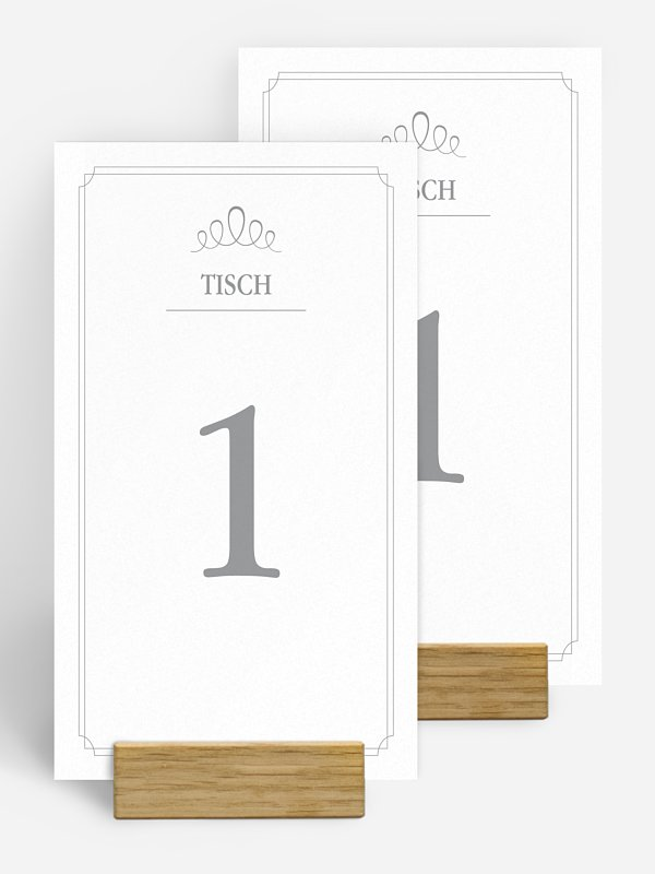 Tischnummer Noblesse