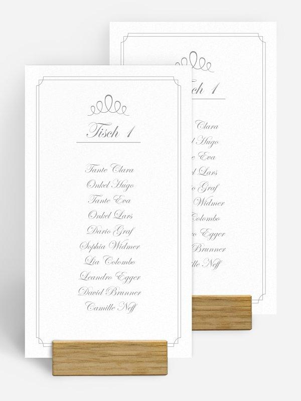 Gruppentischkarte Noblesse