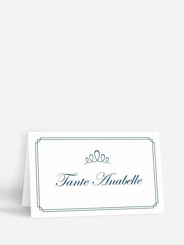 Tischkarte Hochzeit Noblesse