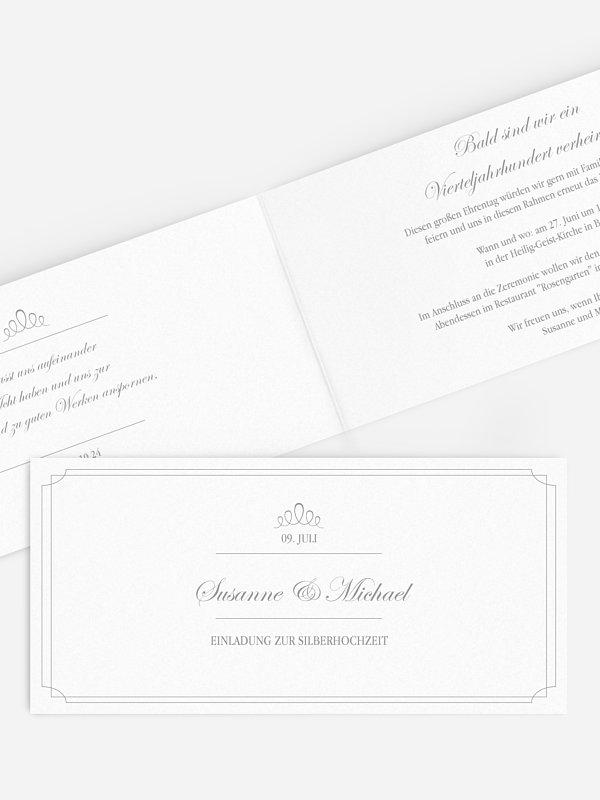 Einladung zur Silberhochzeit Noblesse