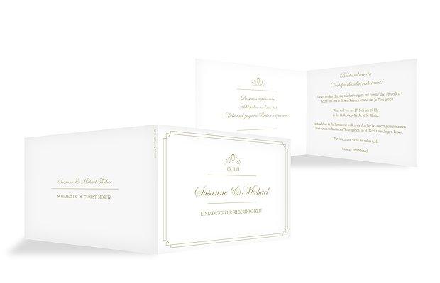 Einladung silberhochzeit noblesse - Silberhochzeit einladung ...