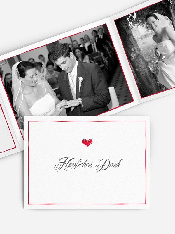 Dankeskarte Hochzeit Herzlich