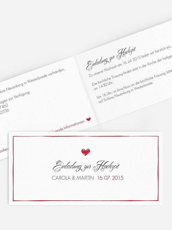 Hochzeitseinladung Herzlich