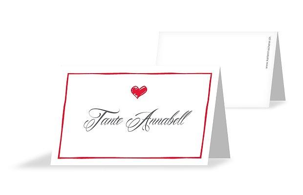 Tischkarte Hochzeit Herzlich