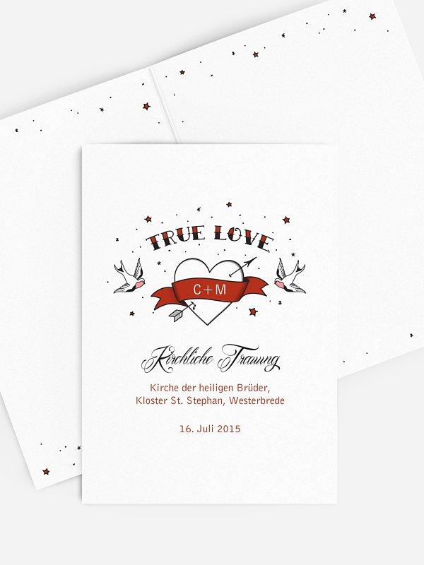 Kirchenheft Hochzeit True Love