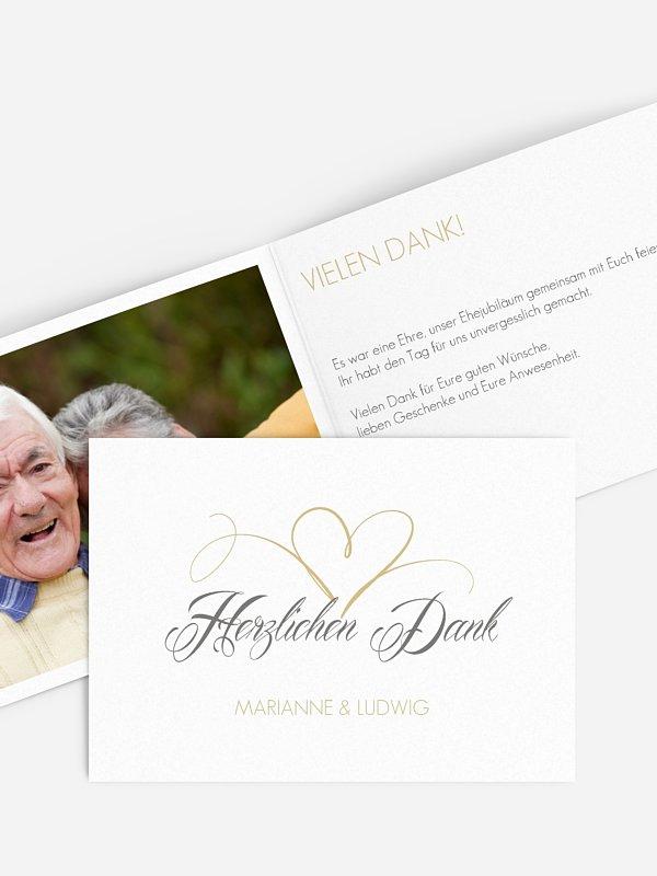 Danksagung zur Goldenen Hochzeit Herzschlag