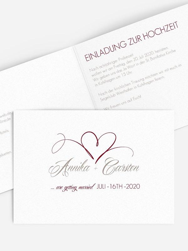 Hochzeitseinladung Herzschlag