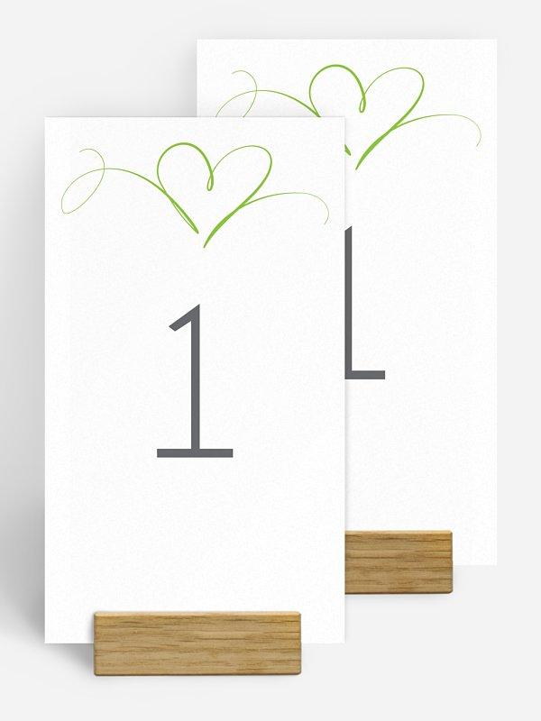 Tischnummer Herzschlag
