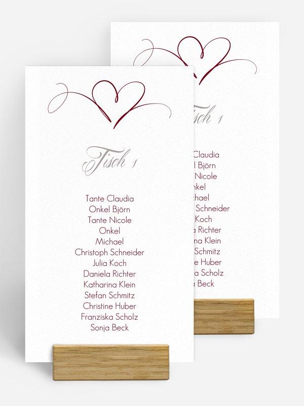 Gruppentischkarte Herzschlag