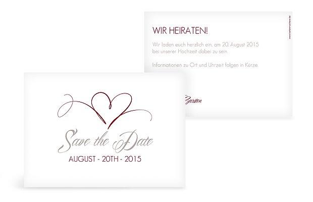 Save-the-Date Karte Herzschlag