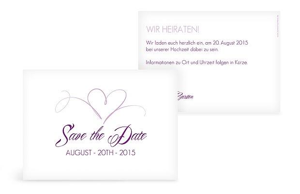 "Save-the-Date Karte ""Herzschlag"""