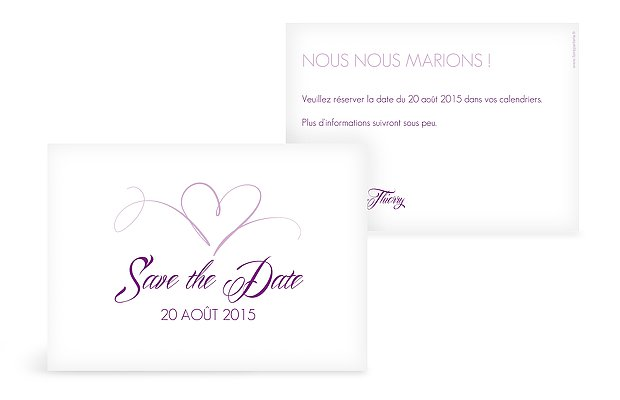 Save the date En plein coeur