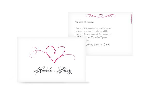 Carte D Invitation Mariage A Personnaliser Faireparterie