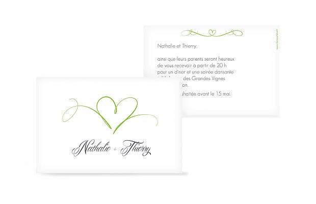 Carton d'invitation En plein coeur