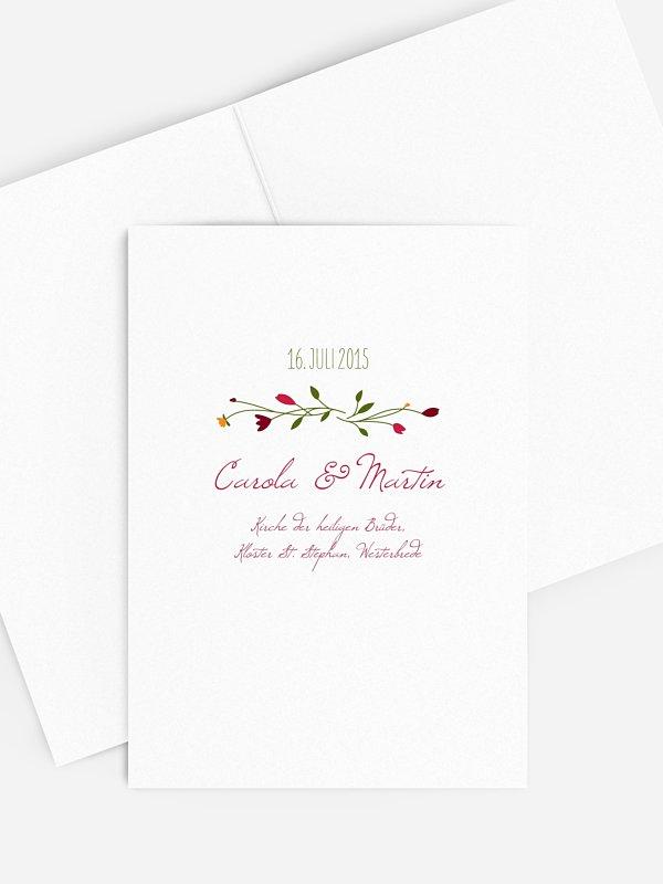 Kirchenheft Hochzeit Blumengirlande