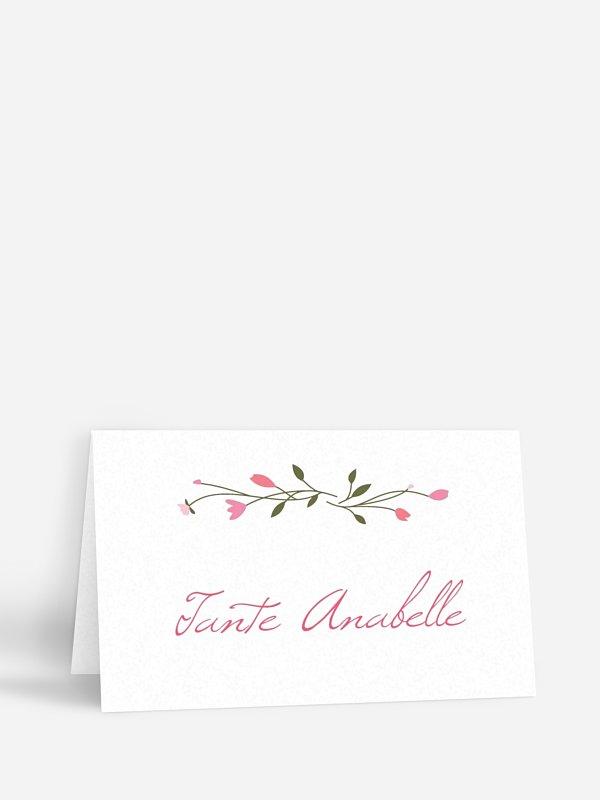 Tischkarte Hochzeit Blumengirlande