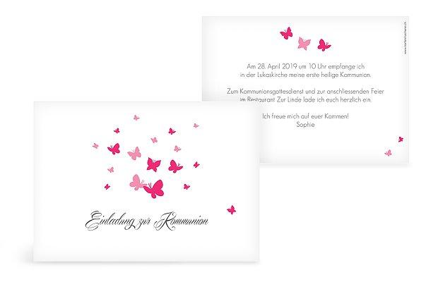 Kommunionseinladung Butterflies
