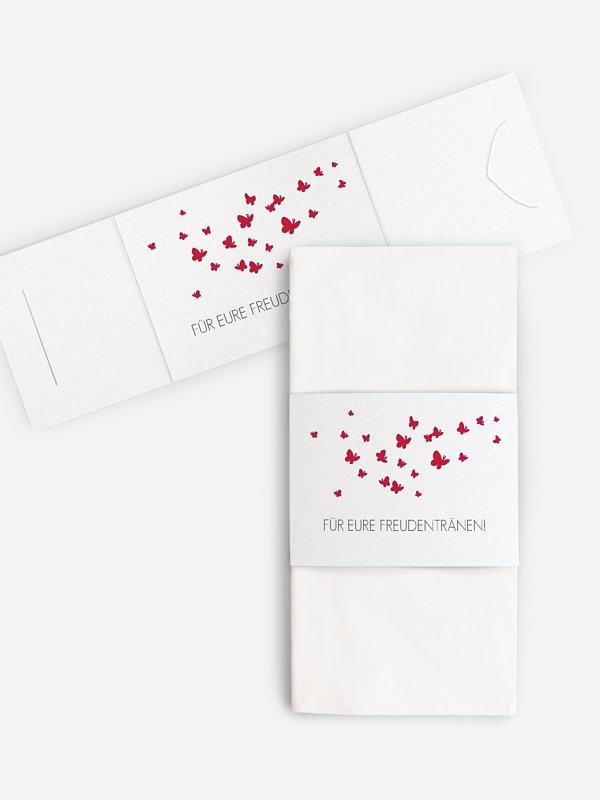 Freudentränen-Taschentücher Butterflies