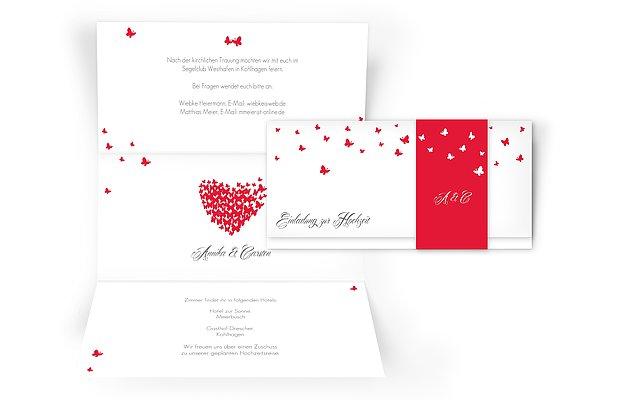 """Hochzeitseinladung """"Butterflies"""""""