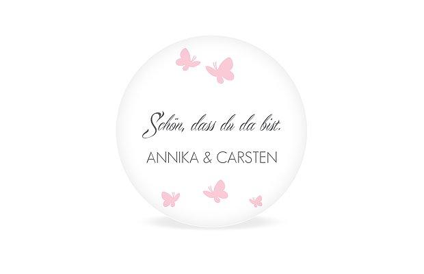 Geschenkaufkleber Hochzeit Butterflies
