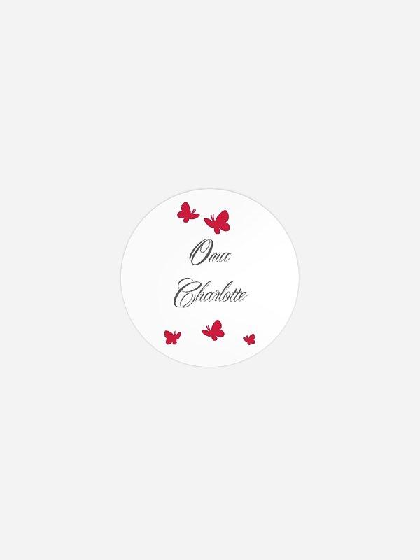 Geschenkaufkleber personalisiert Butterflies