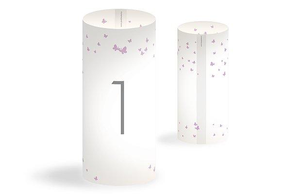 Numéro de table mariage Envolée de papillons