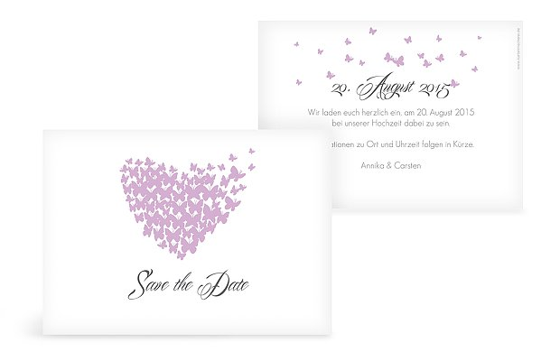 "Save-the-Date Karte ""Butterflies"""