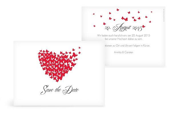 "Save-the-Date Karte ""Butterflies"""