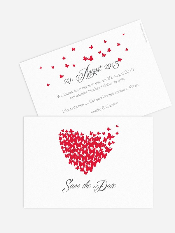 Save-the-Date Karte Butterflies