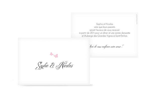 Carton d'invitation Envolée de papillons