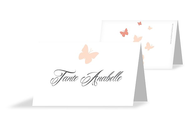 Tischkarte Konfirmation Butterflies