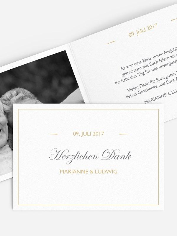Danksagung zur Goldenen Hochzeit Zeitlos