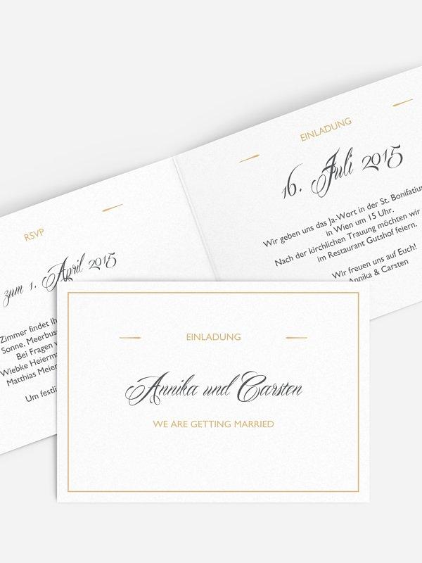 Hochzeitseinladung Zeitlos