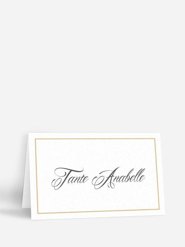 Tischkarte Hochzeit Zeitlos