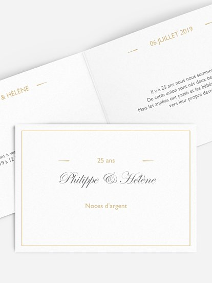 Cartes D Invitation Anniversaire Mariage A Personnaliser