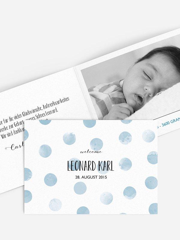 Geburtskarte Tüpfchen