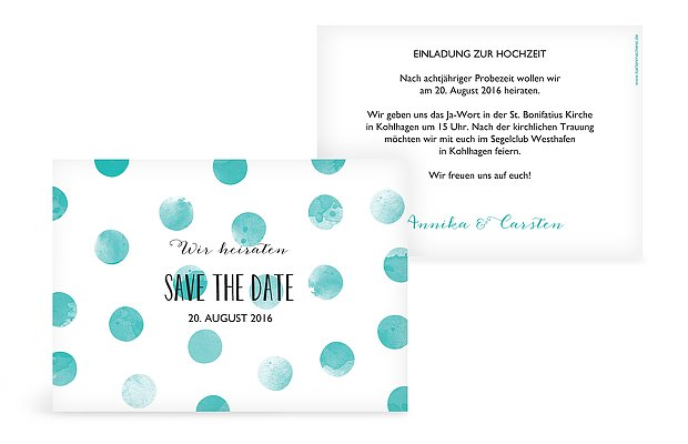 Save-the-Date Karte Tüpfchen