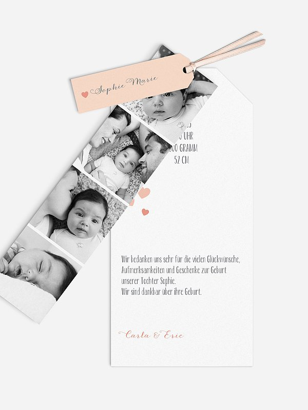 Geburtskarte Unser Herzchen