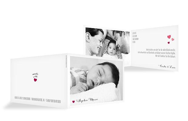 Geburtskarte Unser Herzchen · Vierecke