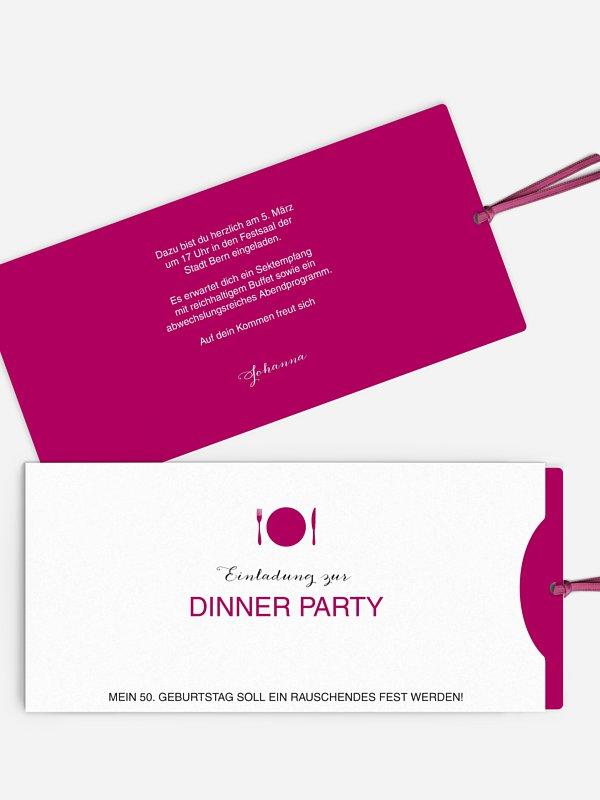 Einladung 50. Geburtstag Dinnerparty