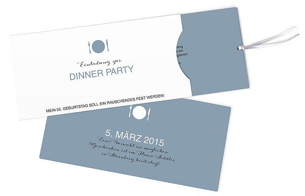 "Geburtstagseinladung ""Dinnerparty"""