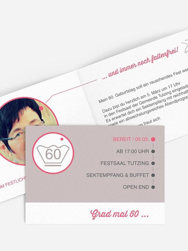 Einladung 60. Geburtstag Sauber feiern