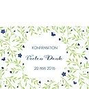"Dankeskarte Konfirmation ""Gartenfest"""