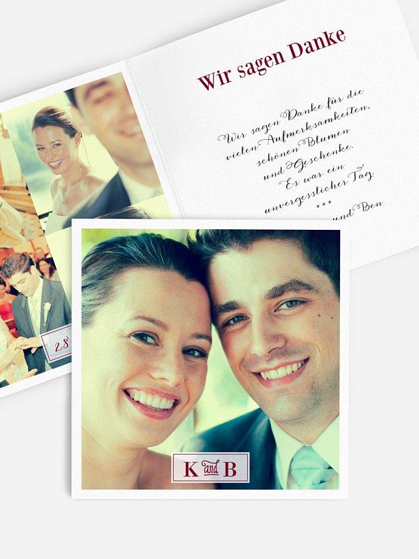 Dankeskarte Hochzeit Wir