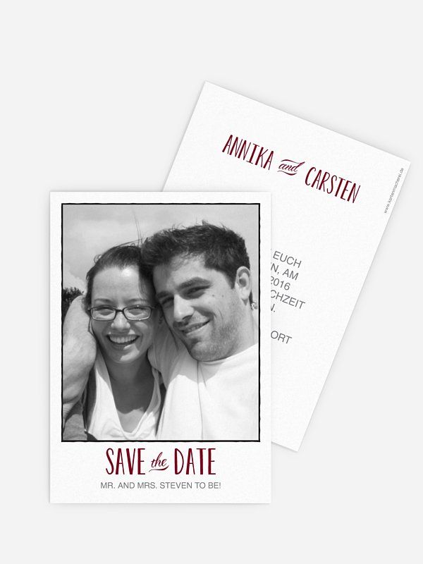 Save-the-Date Karte Mr. & Mrs.
