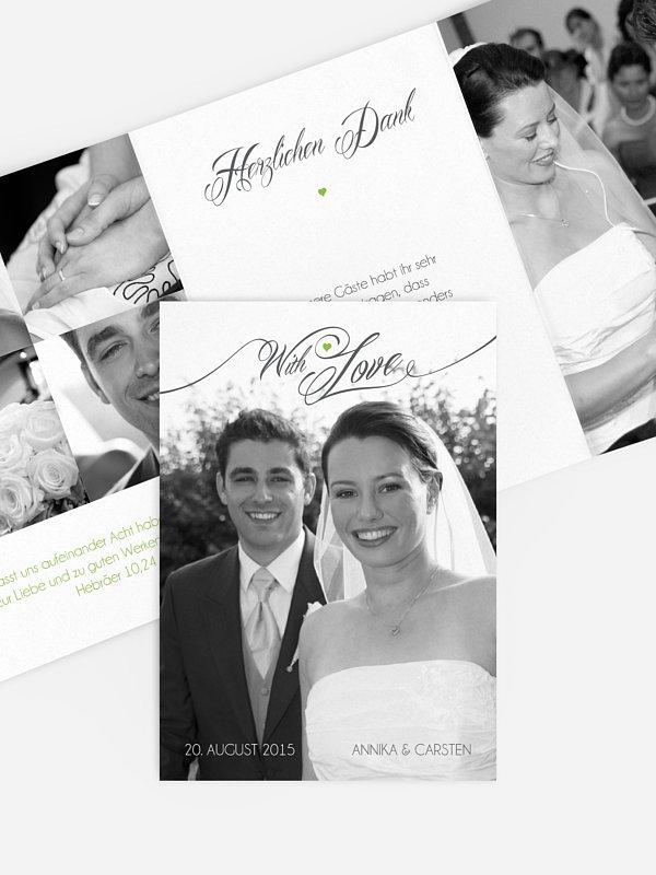 Dankeskarte Hochzeit With Love