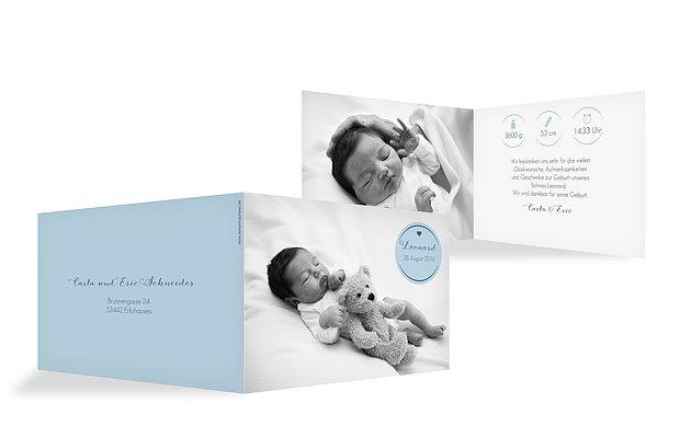 Geburtskarte Baby Button