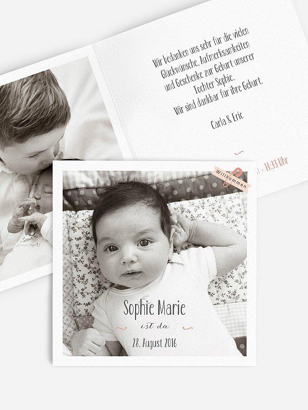 Geburtskarte Willkommen Baby